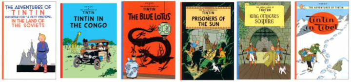 Tintin - the books mentioned