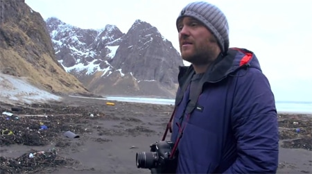 Tim Nunn on Lofoten island beach